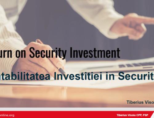 Rentabilitatea invetitiei in Securitate