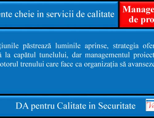 Elemente cheie in servicii de calitate: Management de Proiect