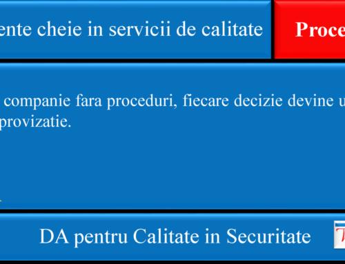 Elemente cheie in servicii de calitate: Proceduri