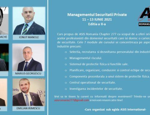 Managementul securitatii private 2021