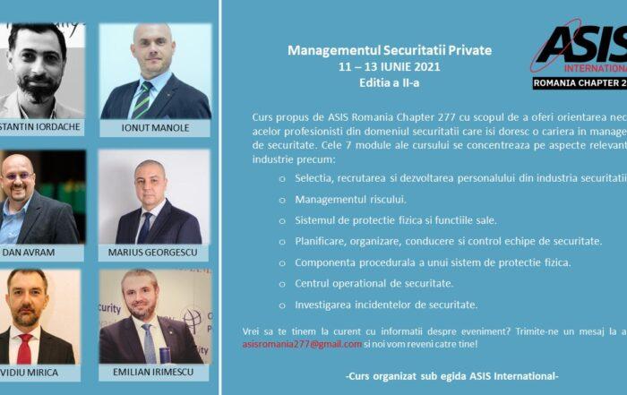 Managementul securitatii